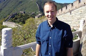 Matt Hancock visits China to promote co-operation on healthcare innovation