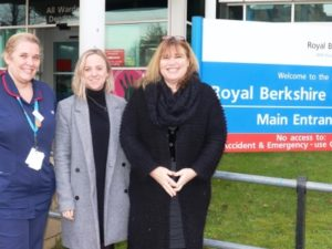 Royal Berkshire staff win £30k award for pioneering patient project
