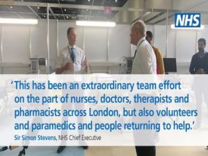 NHS Nightingale London not for critical patients