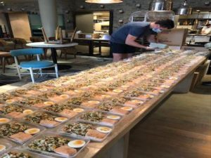 Italian celebrity chef cooks for Barts Health staff