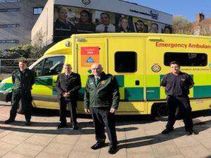 COVID-19 blue light partnership between London Ambulance Service & London Fire Brigade