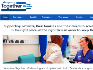 Hampshire Together programme aims to develop better network of care
