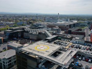 New helipad installed at Manchester University NHS Foundation Trust