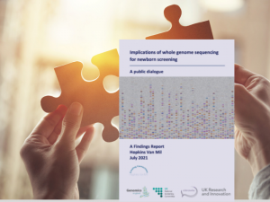 Public dialogue supports use of whole genome sequencing in newborn screening